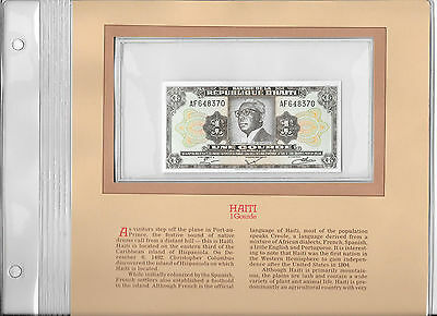 Most Treasured Banknotes Haiti 1 Gourde 1984 P 239 GEM UNC Prefix AF