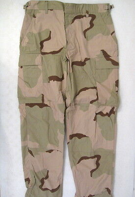 US Army 3-Color Desert Camouflage Uniform BDU Trousers Pants - Size Small/Short