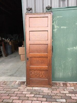 Rd 22 One Single Oak Flat Panel Pocket Door