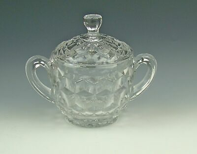 Fostoria Crystal AMERICAN-CLEAR Sugar Bowl with Lid  Excellent