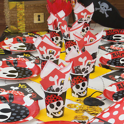 8 Yo Ho Ho Ahoy Pirate Party Themed Cups/Pirate Party Supplies/Party Cups