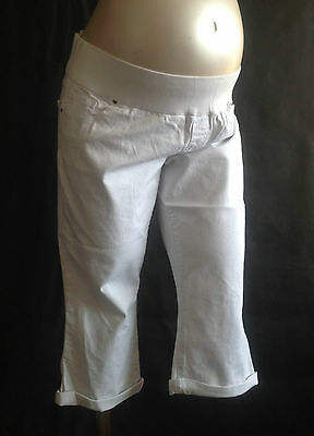 Brand New Maternity White Cropped Jeans Sizes 10,12,14,16 Great for Summer