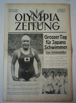 Orig.PRG / Newsletter  Olympic Games BERLIN 1936 - 12.Day/ 12.08. !!  RARE