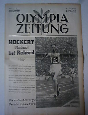 Orig.PRG / Newsletter  Olympic Games BERLIN 1936 - 8.Day / 08.08.  !!  RARE