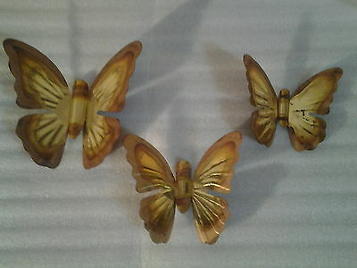 Rustic Decorative Metal Butterfly Accent Wall Plaques ( 3 Pc. Set )