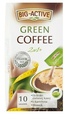 Green Coffee, Slim & Detox,10 Sachets, L-Carnitine, Weight Loss, Antioxidant