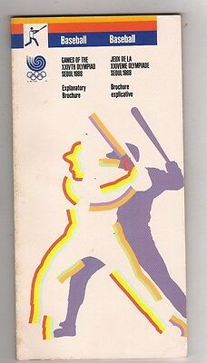 Orig.Complete PRG    Olympic Games SEOUL 1988 - BASEBALL  !!  VERY RARE