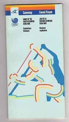 Orig.Complete PRG    Olympic Games SEOUL 1988 - CANOEING  !!   VERY RARE