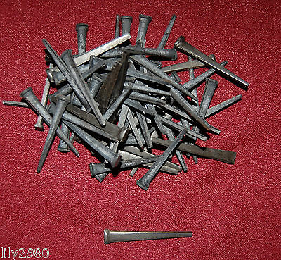 "1 lb Vintage Antique Steel Cut Square TREMONT Nails for Reproduction 2.25"" 57 cm"