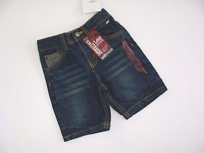 Lee Dungarees Boys Blue Jeans Shorts Size 2T NWT NEW Flat Front Denim Slim