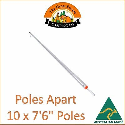 10 x 7'6 (228cm) GALVANISED ADJUSTABLE HEAVY DUTY TENT POLE AUS MADE POLES APART