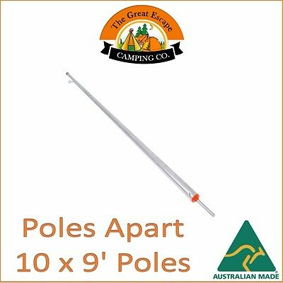 10 x 9ft (274cm) GALVANISED ADJUSTABLE HEAVY DUTY TENT POLE AUS MADE POLES APART