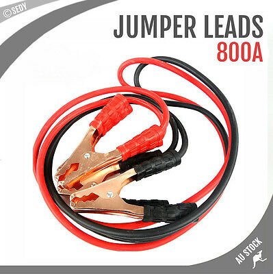 2.4M 800 AMP Car Truck Jumper Leads Jump Start Starter Booster Cables Heavy duty