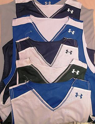NEW Under Armour Mens Reversible Mesh Cropped Tank Top Athletic Shirt $24.00