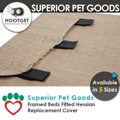 Superior Pet Goods Hessian/Jute Raised Dog Bed Replacement Cover - XS,S,M,L,XL