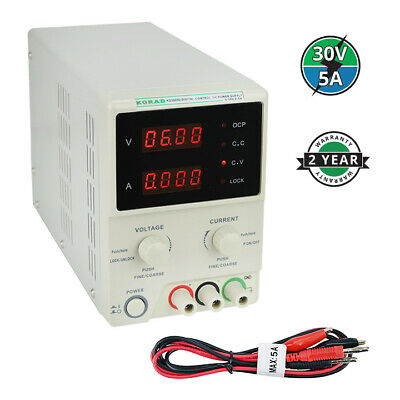 KORAD KD3005D - Precision Variable Adjustable 30V, 5A  DC Linear Power Supply Di