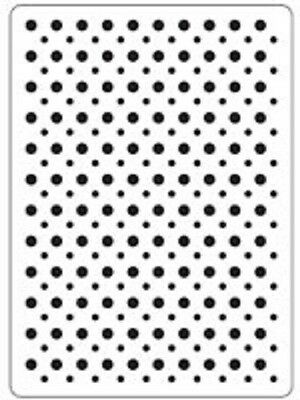 "CRAFTS TOO Embossing Folder SPOTS CTFD3020 6"" x 4"""