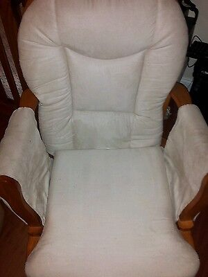 Glider with ottoman and Boppy Nursing Pillow
