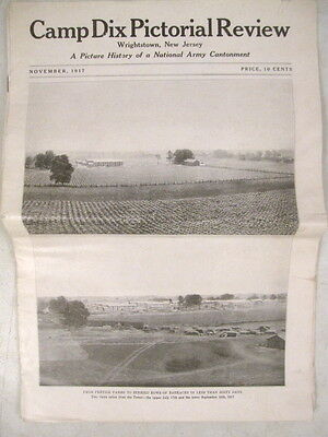 WWI Era US Army Camp Dix Pictorial Review - First Issue - November 1917