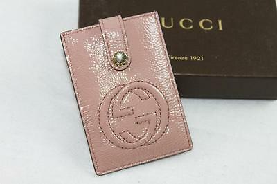 AUTH $250 Gucci Women Soho Patent Leather Money Clip /Card Case