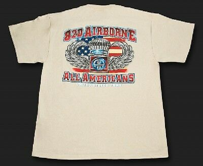 BLACK INK T SHIRT US 82nd Airborne Division ALL AMERICANS Medium