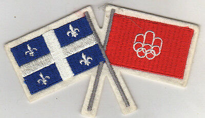 Orig.clothe badge    XXI.Olympic Games MONTREAL 1976  !!   VERY RARE