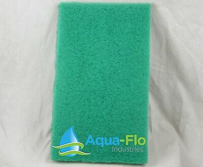 "1 Aqua-Flo Green Pond Filter Mat/Media/Pad- 14""x24"" -water garden-skimmer-fish"