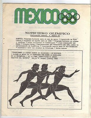 Orig.Olympic News / Preview   Olympic Games MEXICO 1968  -  Nr. 60  !!   RARE