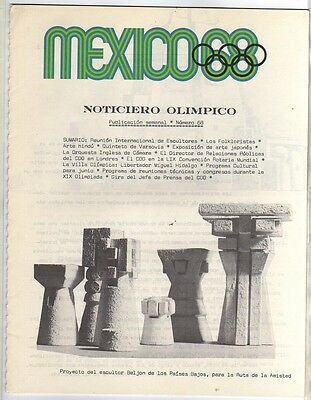 Orig.Olympic News / Preview   Olympic Games MEXICO 1968  -  Nr. 68  !!   RARE