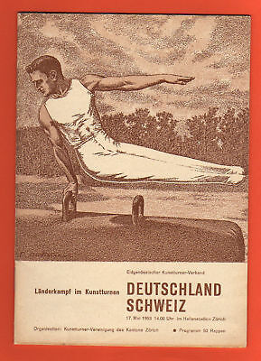 Orig.PRG   Gymnastic Event   SWITZERLAND - GERMANY 1953  !!  RARITY