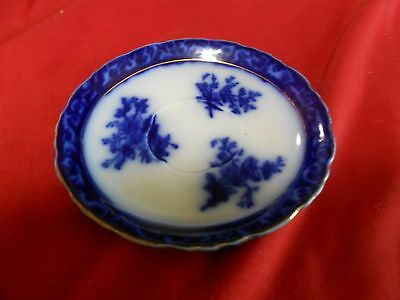 Great Antique FLOW BLUE Saucer