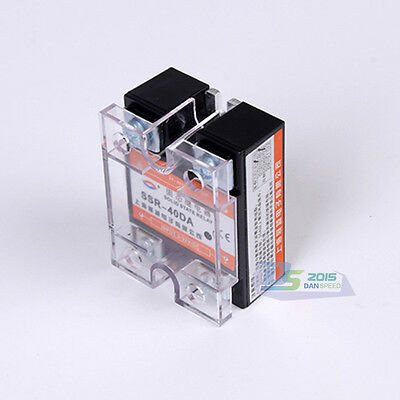 Single-Phase SSR Solid State Relay SSR-40DA 40A Input 3-32VDC Output 24-480VAC