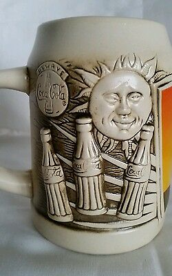 Vintage Coca Cola Coke Mug Stein Cup Collectible Advertising 80s