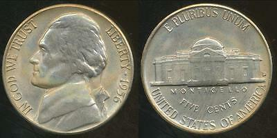 United States, 1956-D 5 Cents, Jefferson Nickel - Uncirculated