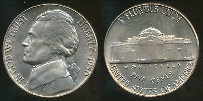 United States, 1950 5 Cents, Jefferson Nickel - Uncirculated