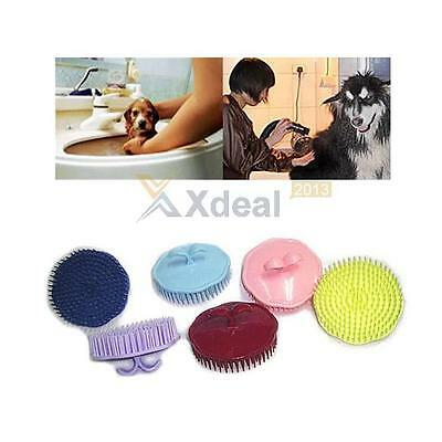 Pet Puppy Hair Shampoo Scalp Body Massage Cleanning Brush Dog Cat Massager Comb