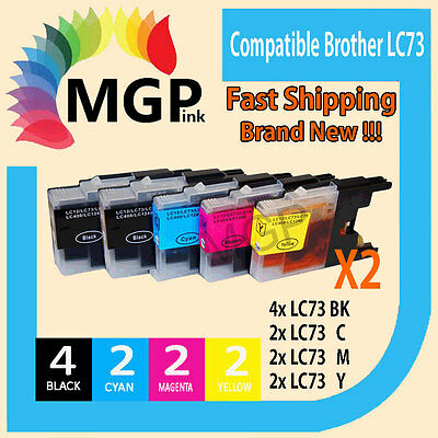 10x generic ink Cartridge LC73 LC40 XL  for Brother MFCJ5910DW DCP-J525W