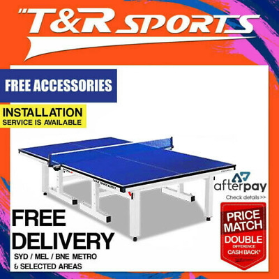 Rrp899.99! 25Mm White Frame Double Happiness Table Tennis Table Free Gift Pack!