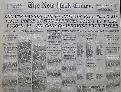 3-1941 Wwii March 9 Yugoslavia Reaches Compromise With Hitler