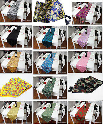 Wholesale 4pcs Chinese Handmade Silk Vintage Silk Table Runner Bed Flag