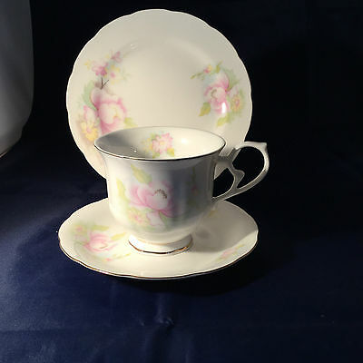 Royal Wessex Camellia  Vintage China Trio Cup, Saucer & Plate - Weddings  VGC