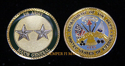 Major General 2 Star Challenge Coin Us Army O8 Pin Up Rank Promotion Gift Wow