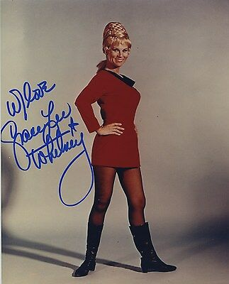 Grace Lee Whitney Signed Autographed Color Star Trek Photo Wow!!
