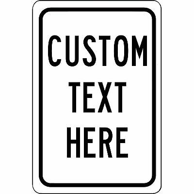 """New Personalized 8"""" x 12"""" Aluminum Metal Sign Customized With Your Custom Text"""