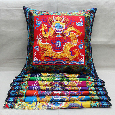 Lots 4pcs Chinese Handmade Vintage Ethnic Embroidery Cushion Covers Pillow Case