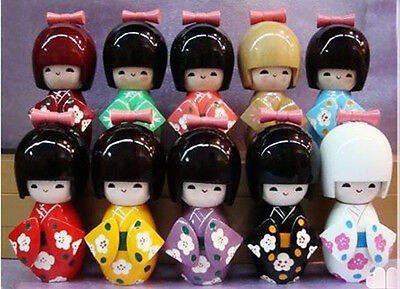 Wholesale 4sets /12pcs Handmade Japanese Kokeshi Girls Wooden Dolls