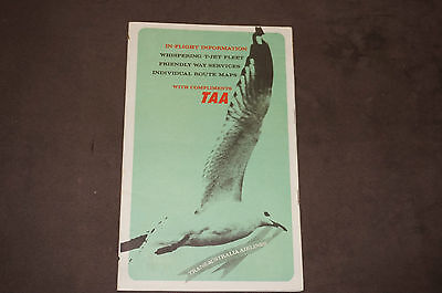 Vintage TAA In-Flight Information & Route Maps Booklet 1960's