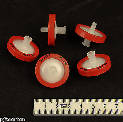 25mm Syringe Driven Filter 0.2µm Exapure PTFE Membrane x 5 Free Shipping