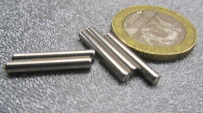 18-8 Stainless Steel Metric Dowel Pins M2 Dia x 18mm Length, 100 Pieces