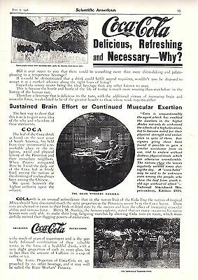 1906 Coca Cola Ad with Cocaine (Reproduction)